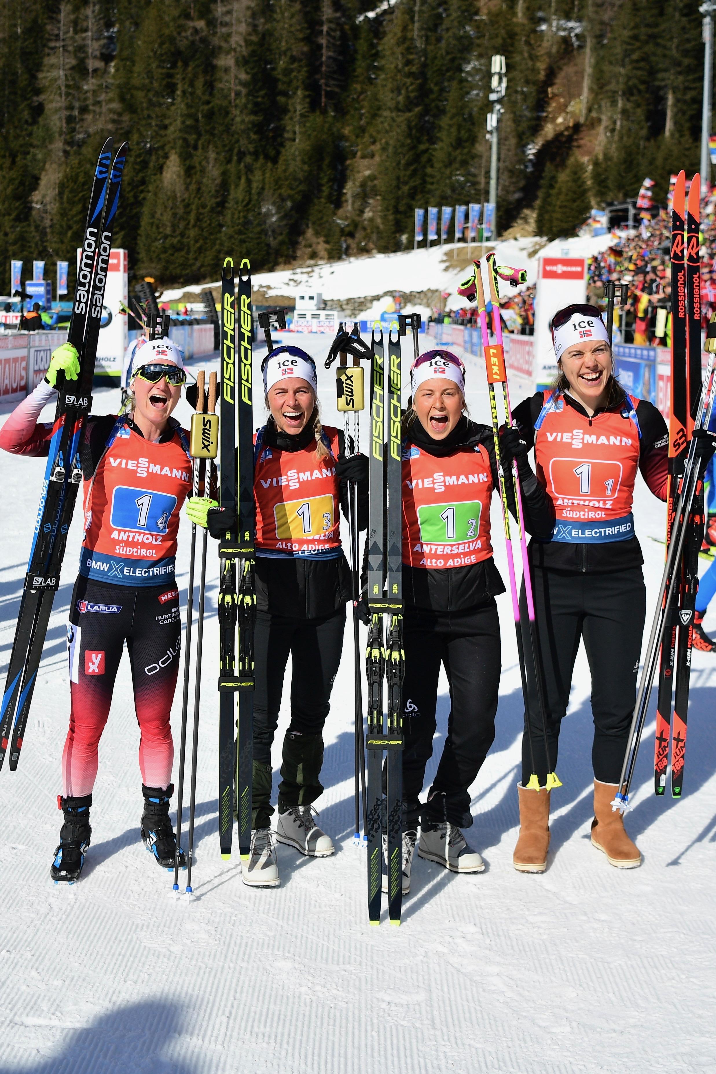 Norwegen gewinnt die Damen-Staffel