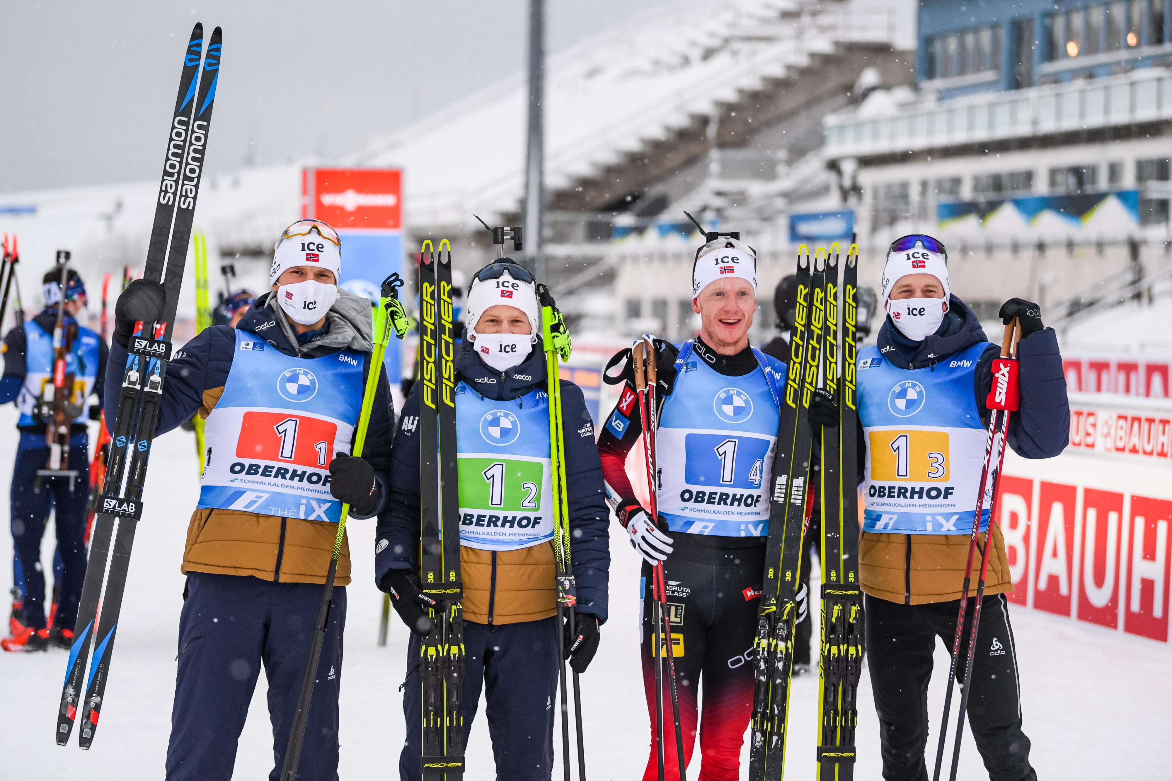 Staffel-Weltmeister Frankreich siegt in Oberhof