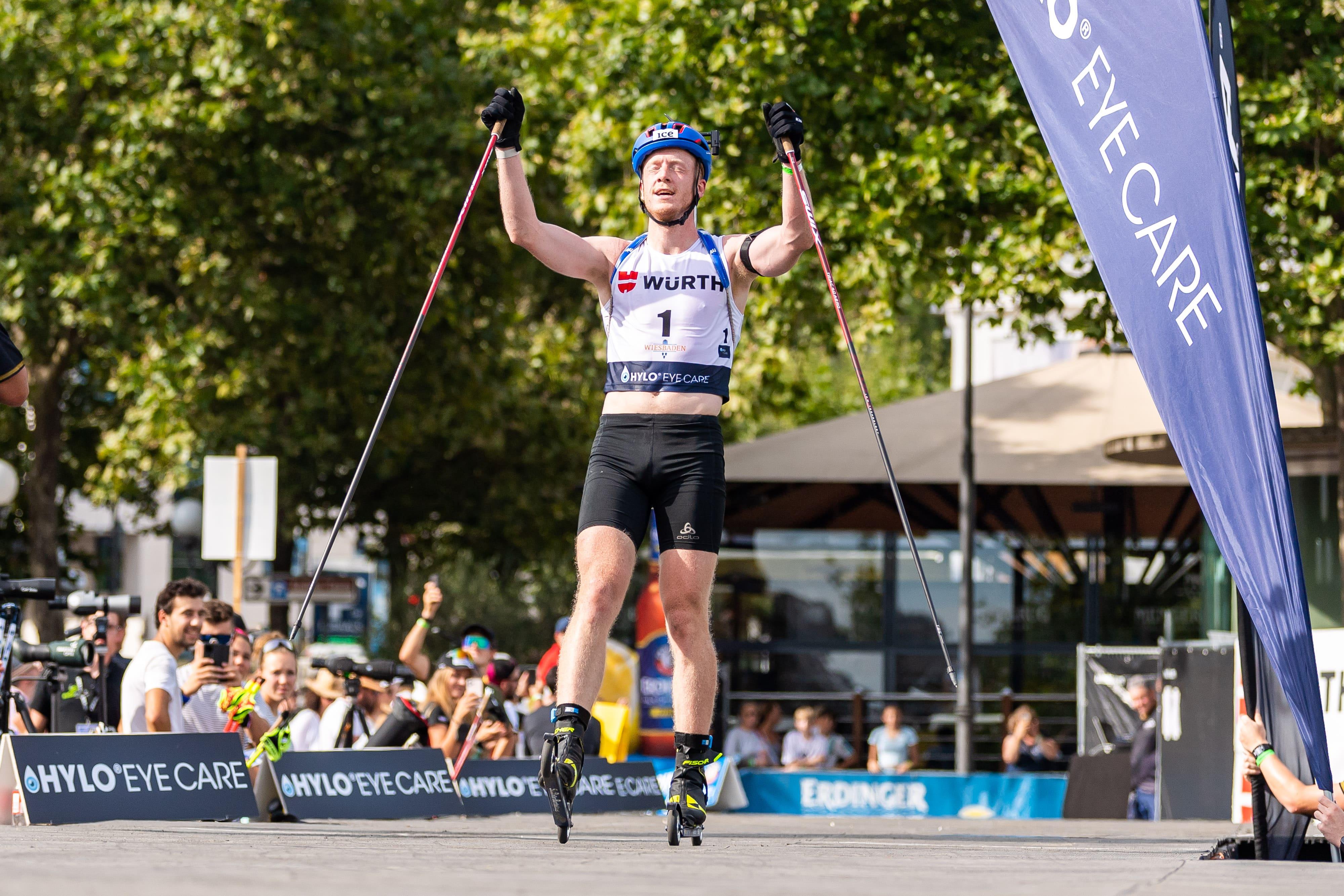 Johannes Thingnes Boe gewinnt den City-Biathlon in Wiesbaden